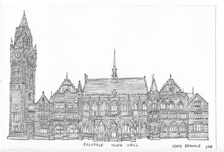 Rochdale town hall 2018